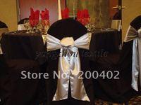 black banquet  Chair Cover/wedding chair cover/satin sash/organza sash