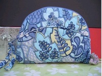 Wholesale-100% VB Quilting cotton Small cosmetic bag    100pcs/lot