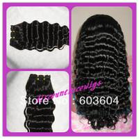 Top Grade AAAAA Deep Wave 100% Brazilian virgin hair weaving