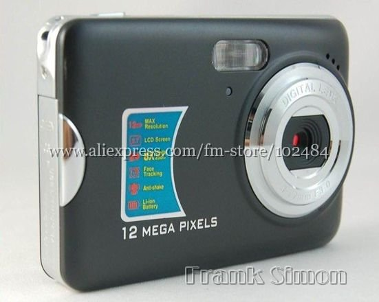 "Special Offer! 2.7"" Face Detection DC-590 Digital Camera 5.0MP CMOS 12.0MP Enhanced 8X Zoom Drop Shipping(China (Mainland))"