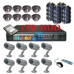 16 Camera H.264 Security surveillance System with 1TB HDD Free shipping(China (Mainland))
