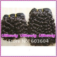 #2 Beautiful Curly 100% Indian Remy hair extension-machine made weft