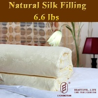 Guaranteed 100% Genuine New luxurious 100% Tussah Silk Comforter Filling 3.0kg,silk quilt, bedding set