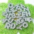 130pcs 8mm A-Z Full Rhinestone Slide letters Charm DIY Accessories fit pet collar