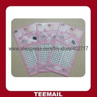 DIY rhinestone sticker with crystal rhinestone for mobile decoration in hot sale