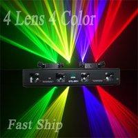 Free Shipping---4 Color 4 Lens RGYV 360mW Laser Light DMX AUTO SOUND DJ Party Disco Club Light (CTL-DCM)