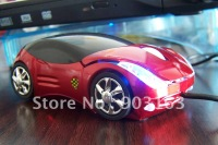 Wholesale Popular 1pcs best selling New Arrival USB 3D RED Car Shape Optical mouse Mice Laptop PC Computer + free shipping