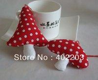christmas ornament-christmas decorations-christmas fabic mushroom hanger-2designs asst-30sets/lot&free shipping