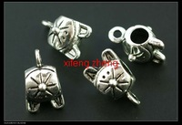 100 pcs/lot alloy jewelry bails tibet silver Free shipping