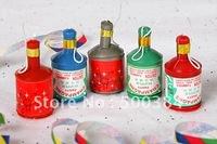 party popper, confetti/streamer,5.5*2.5cm, christmas, new year, birthday, wedding,entertainment. wholesale,free shipping