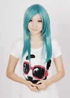 Cosplay wig 60cm MINT LIGHT GREEN long straight 10pcs/lot