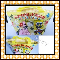 Free Shipping SpongeBob SquarePants Yellow Cartoon Anime Lunchbag Carry Tote Bag Handbags