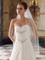 Wholesale and retail Free Shipping New Beaded Breast Wedding Gown Sweetheart Neck Gown