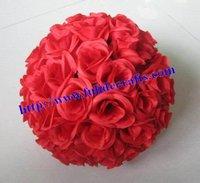 silk rose flower balls option-color wedding 30cm red