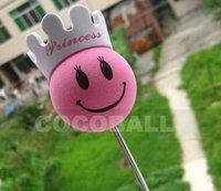 Hot Sale eva foam aerial antenna pencil ball topper pink princess