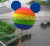Hot Sale eva foam aerial antenna ball topper rainbow mickey