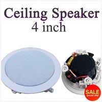 """Ceiling Speaker, Stereo Speaker,4 inch In-ceiling speakerBackground music system,4"""" Wall Speaker x 2 pcs"""