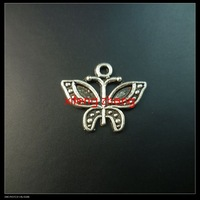 250 pcs/lot alloy charms(butterfly) Free shipping
