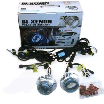 HID projector lens bixenon high low kit  headlight H1 H4 H7 9004 9005 9006 free shipping