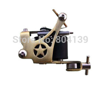 Free Shipping-Pack(5) A5 New Tattoo Machine Gun Professional 10 wrap coils TATOOING SUPPLIER SHOP