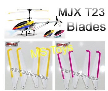 MJX T23 F39 T40C yellow pink blades RC Helicopter spare part Accessory T623 F639 T640C Main Rotor fans origin factory