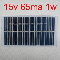 15V 65MA 1W solar panels solar power 12V DC battery free shipping