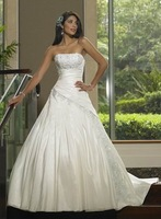 Free Shipping Wholesale/retail New Bride Wedding Evening Prom dress gown Size: Custom