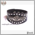 Punk Gothic Studded wing Leather bangle Bracelet