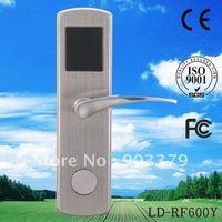 Zinic alloy intelligent RF hotel door lock LD-RF600Y  for home office hotel door use(gold,silver )