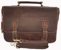 Retro Vintage Brown Crazy Horse leather men s briefcase tote Men genuine leather briefcase 14 laptop