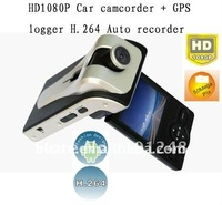 FULL HD 1920*1080P 30FPS Car DVR black box Recorder GPS1000 with GPS logger G-sensor HDMI H.264 5 Mega Pixel CMOS 120 degree
