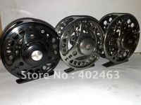 High quality aluminum alloy processing # 9/10  102mm Gunsmoke color CNC  FLY Fishing  Reels  2+1RB