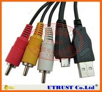 Free Shipping 10pcs/lot VMC-MD3 USB Digital Camera AV Cable for Sony Camera