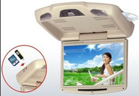 Car Roof-Mounted and Flip-Down Monitor For all car with DVD/TV/IR/FM/USB/SD/Game/MP3/ MP4(China (Mainland))