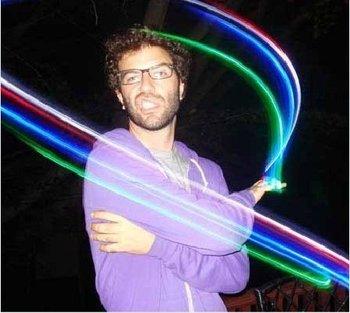 40pcs Multi-color Bright LED laser Finger Ring Light Lamp Beams Torch For Party KTV Bar gift  0122