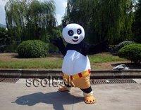 100% Quality Guarantee Free shipping && Retail/ Wholesale Lovely Kung fu Panda Mascot Costume Cartoon Fancy Dress