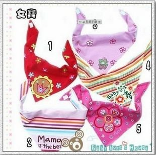 Mixed wholesale pet Triangle bibs , a variety of colors