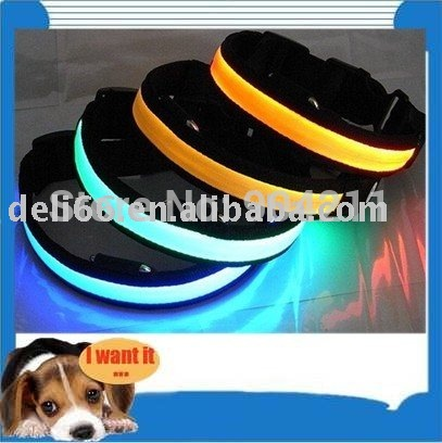 CHINA manufacturer: new ---style, led pet collar, fiber collars, dog collar, new, fashion pet collar(China (Mainland))