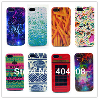 new arrival high quality cell phone mobile case for Iphone 5 5s colorful starry sky keep calm soft back cover shell skin 10pcs