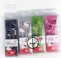 Free shipping earphone mp3 200pcs 3.5mm hello kitty stereo in ear headphone