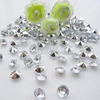1000pcs Silver 6.5mm 1Carat Acrylic Crystal Diamond Confetti for Wedding Party Table Vase Decoration