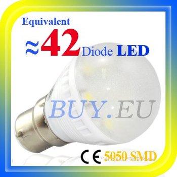 10 pcs Free Shipping!! 2W B22 Cold White 7 SMD 5050 LED Light Bulb Lamp 110-240V #10 x DQ0135