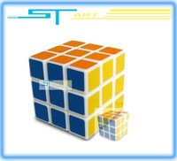 free shipping Promotion  3x3x3 Magical Cube Magic Puzzle Cube 3*3*3 3 row three child gift