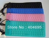 Freeshipping+ Brand New Mini  USB/PS2 Waterproof Silicon Flexible Keyboard