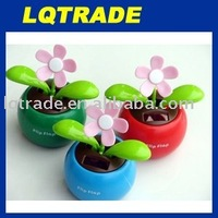 10pcs/lot Swing Solar Flower +Magic Cute Flip Flap /Green,Blue,Pink Solar Plant Toys