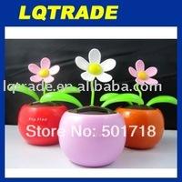 10pcs/lot flip flap solar flower apple flower solar swinging flower novelty gift