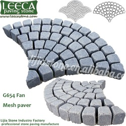 Courty paving fan shape light grey granite(China (Mainland))