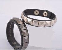 Fashion Punk Real Leather Bracelet, Leather Bangle free shipping