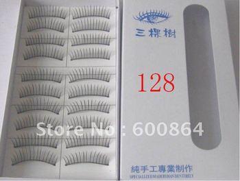 50pairs 128# Fashion Eyelashes eyelash extension False Eyelashes Fake Eyelashes artificial eyelash Hand made Eye lash