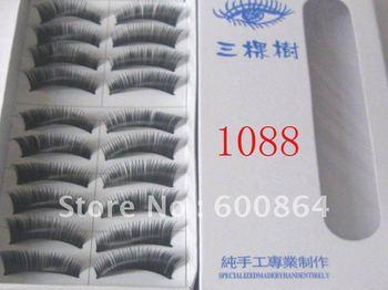 HOT 50pairs 1088# Fashion Eyelashes eyelash extension False Eyelashes Fake Eyelashes artificial eyelash Hand made Eye lash